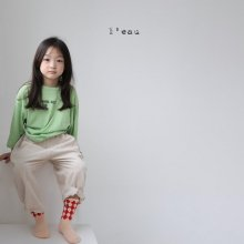 circle T<br>neon green<br>『l'eau』<br>20FW<br>定価<s>2,000円</s><br>XS/S/M
