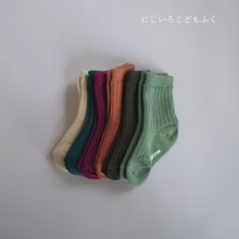 6 Color Socks Set<br>Coral set / 6 pieces 1 set <br>20FW