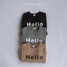 Hello big sweatshirt<br>3 color<br>『FOV』<br>20FW【RESTOCK】<br>定価<s>2,310円</s><br>