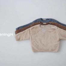 Air fleece button T<br>4 color<br>『opening N』<br>20 FW 【PRE ORDER】