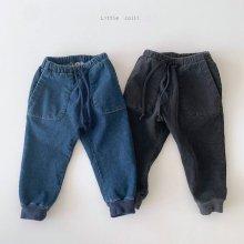 Span joger Denim<br>2 color<br>『Little Colli』<br>20FW <br>定価<s>3,400円</s>