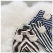 Striped leggings<br>3 color<br>『nunubiel』<br>20 FW<br>定価<s>1,900円</s><br>