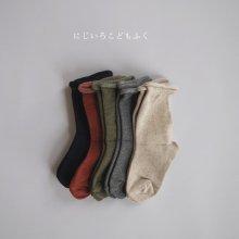 Roll socks set<br>5 pieces 1 set<br>20FW