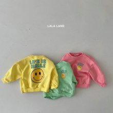 Smile Sweatshirt<br>3 color<br>『lala land』<br>21 SS<img class='new_mark_img2' src='https://img.shop-pro.jp/img/new/icons13.gif' style='border:none;display:inline;margin:0px;padding:0px;width:auto;' />