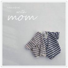 Stripe Sweatshirt <br>with Mom<br>2 color<br>『nunubiel』<br>21SS
