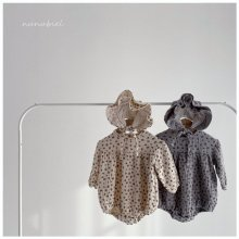 Mini flower rompers bonnet set<br>2 color<br>『nunubiel』<br>21SS