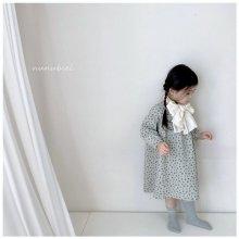 Mini flower dress<br>2 color<br>『nunubiel』<br>21SS<br>Mint/M