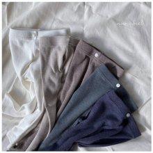 Ribbed button leggings<br>5 color<br>『nunubiel』<br>21SS