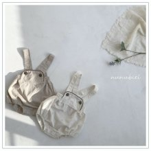 Watercolor suspender rompers<br>2 color<br>『nunubiel』<br>21SS
