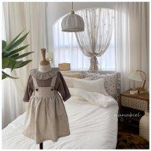 Watercolor suspender dress<br>2 color<br>『nunubiel』<br>21SS