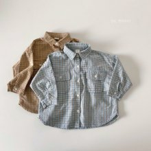 Check button shirt<br>2 color<br>『de marvi』<br>21SS 【Stock】<br>Blue/XL