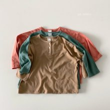 Henry Neck Button T<br>3 color<br>『de marvi』<br>21SS