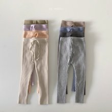 21SS Ribbed leggings<br>junior<br>8 color<br>『de marvi』<br>21SS 【Stock】