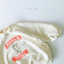 Koala Sweatshirt<br>3 color<br>『Little Colli』<br>21SS 【Stock】<br>White/S