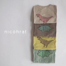 Triceratops / Tyranno T<br>4 color<br>『 nicohrat 』<br>21SS