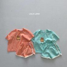Lala Bear set<br>2 color<br>『lala land』<br>21SS