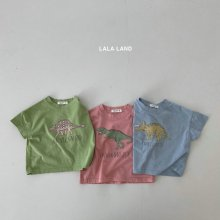 S'Dinosaur Short Sleeve T <br>3 color<br>『lala land』<br>21SS