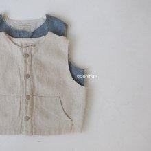 w vintage vest<br>2 color<br>『OpeningN』<br>21SS