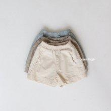 A Slub short pants<br>3 color<br>『OpeningN』<br>21SS