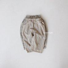 Slub stripe Long Pants<br>2 color<br>『OpeningN』<br>21SS