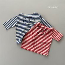 7 bu striped T<br>2 color<br>『de marvi』<br>21SS