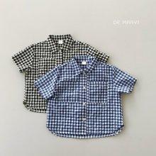 Check coop shirt<br>2 color<br>『de marvi』<br>21SS