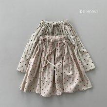 Summer dot skirt<br>2 color<br>『de marvi』<br>21SS