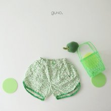 flower shorts<br>Green<br>『guno・』<br>21SS