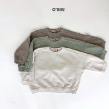 Square Pig Dying Sweatshirt<br>3 color <br>『O'ahu』<br>21FW