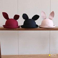 Bunny wool hat <br>うさぎのハット<br>Black/Wine/Beige<br>minidressing