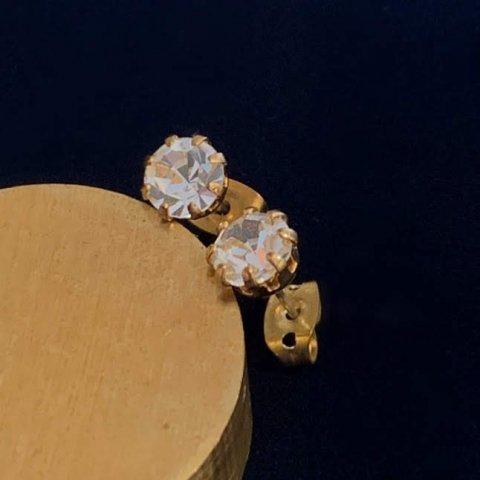Pisces / Vintage Zirconia Pierced Earrings