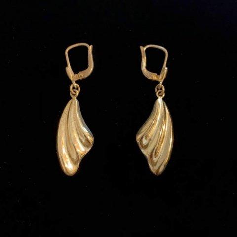Pisces / Vintage Silver Wing Pierced Earrings
