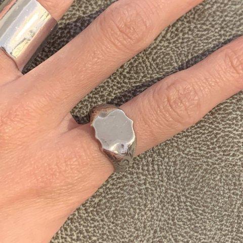 Pisces / Vintage Silver Signet Ring