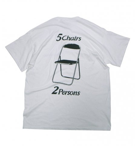 SPUT performance / 5Chairs2Persons T-shirt - white