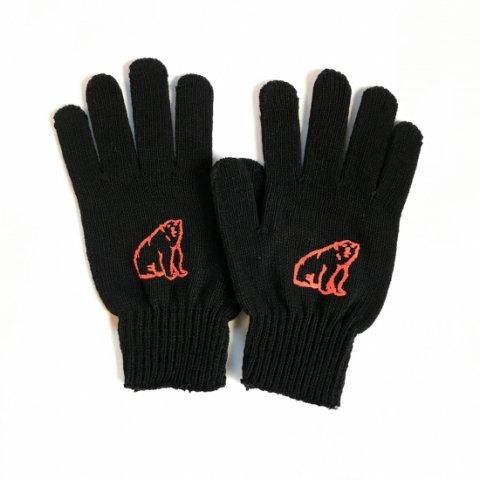 shirokuma / shirokuma Logo Gloves - black