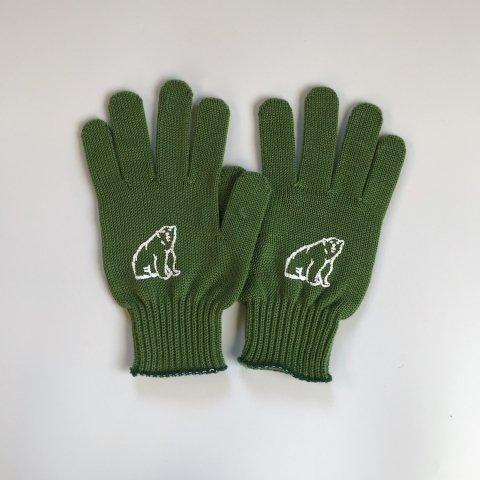 shirokuma / shirokuma Logo Gloves - green