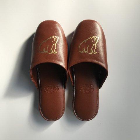 shirokuma / shirokuma Logo Slipper - brown