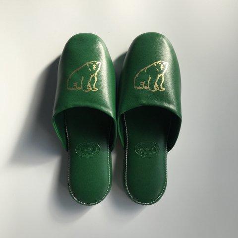 shirokuma / shirokuma Logo Slipper - green