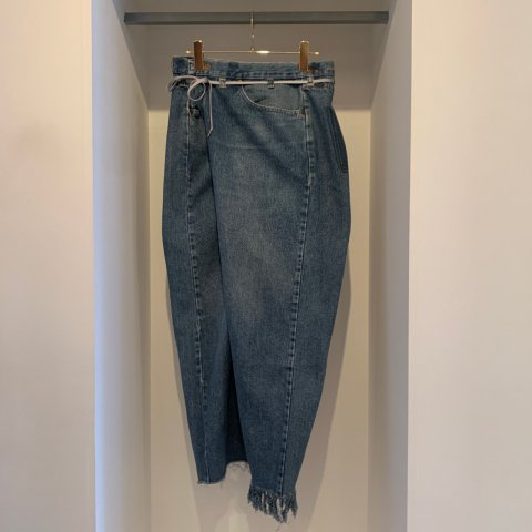 MAISON EUREKA / VINTAGE REWORK BIGGY PANTS - blue 003