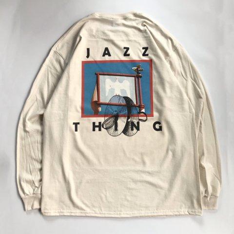 marksedit / JAZZ THING Long Sleeve T - natural