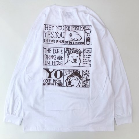 <img class='new_mark_img1' src='https://img.shop-pro.jp/img/new/icons3.gif' style='border:none;display:inline;margin:0px;padding:0px;width:auto;' />shirokuma / Foniks Window LS T-shirt - white