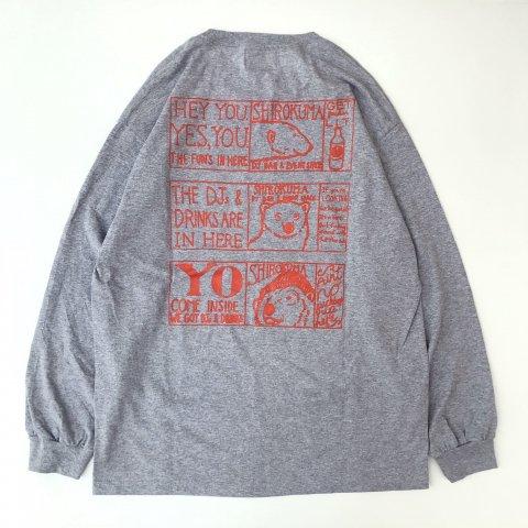<img class='new_mark_img1' src='https://img.shop-pro.jp/img/new/icons3.gif' style='border:none;display:inline;margin:0px;padding:0px;width:auto;' />shirokuma / Foniks Window LS T-shirt - gray
