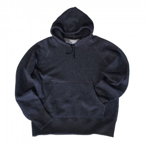 KEYHOLE / BASIC SWEAT PARKA - black