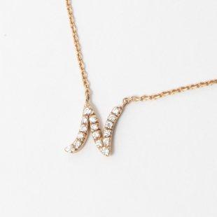 amulette de Dahlia イニシャルネックレス N