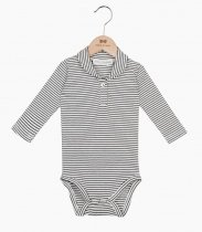 House of Jamie(ハウスオブジェイミー) Boys Collar Bodysuit-  Little Stripes  残りサイズ3-6Mのみ