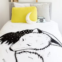 <img class='new_mark_img1' src='https://img.shop-pro.jp/img/new/icons14.gif' style='border:none;display:inline;margin:0px;padding:0px;width:auto;' />babee&me  Fox Organic Cotton Doona Cover and Pillowcase Set – Single 布団カバー・ピローケースセット