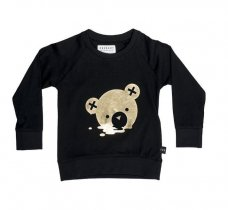 HUXBABY(ハックスベイビー) bear melt sweatshirt - Black サイズ6-12m/1Y/2Y/3Y/4Y