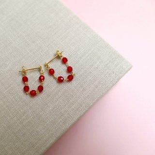 シャンクピアス 赤メノウ