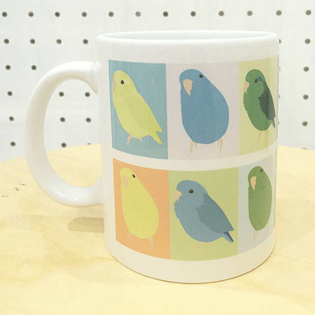 mametosora マメルリハのマグカップ 商品の様子