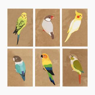 鳥デザインステッカー(SMALL BIRD)